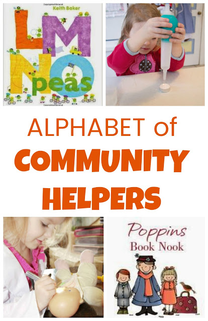 Poppin's Book Nook ~ Community Helpers and LMNO Peas