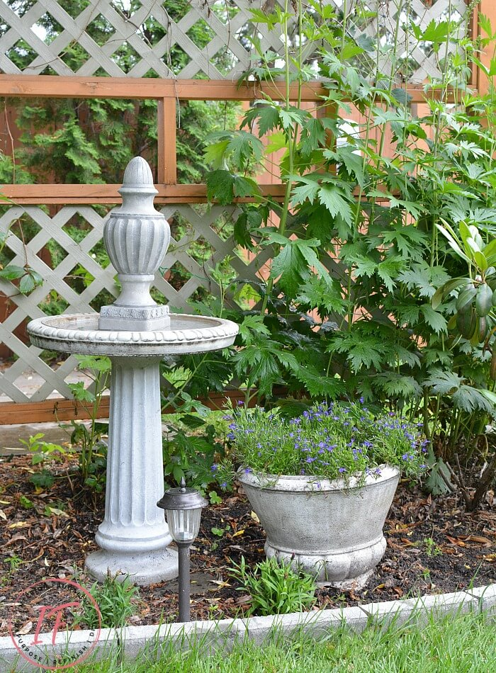 DIY Fake Concrete Bird Bath Finial