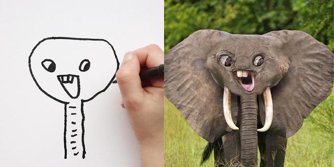 Pai transforma desenhos do filho em criaturas reais no Instagram