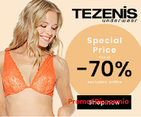 Logo Tezenis fino al 70% di sconto ( slip uomo/donna, canotte, t-shirt e non solo) !