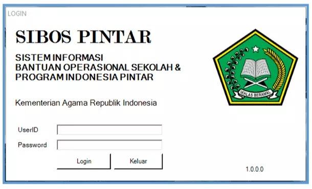 Aplikasi SIBOS PINTAR Versi Portable (Tanpa Instal)