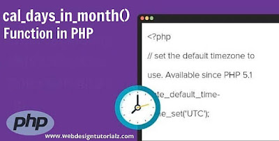 PHP cal_days_in_month() Function