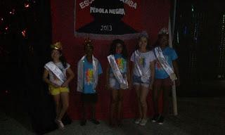 CARNAVAL 2018: Nova corte da Escola de Samba Pérola Negra