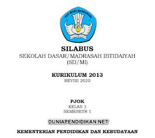 Silabus PJOK Kelas 3 SD/MI Semester 1 K13 Revisi 2021