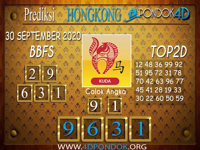 Prediksi Togel HONGKONG PONDOK4D 30 SEPTEMBER 2020