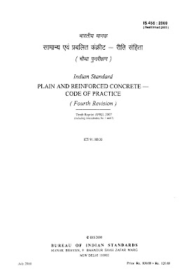IS 456-2000 Code for Plain and Reinforced Concrete Code