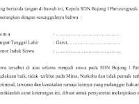 Contoh Surat Keterangan Kelakuan Baik dari Sekolah