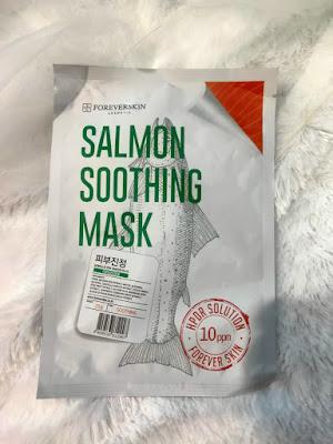review sheet mask, foreverskin, salmon, skincare salmon