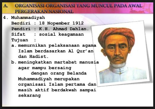 Organisasi Pergerakan Nasional Pada Masa Awal Pergerakan Nasional Terlengkap Disini