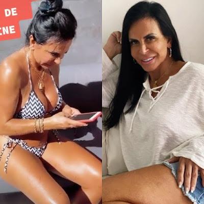Verdadeiro corpo de Gretchen de biquíni deixa fãs chocados