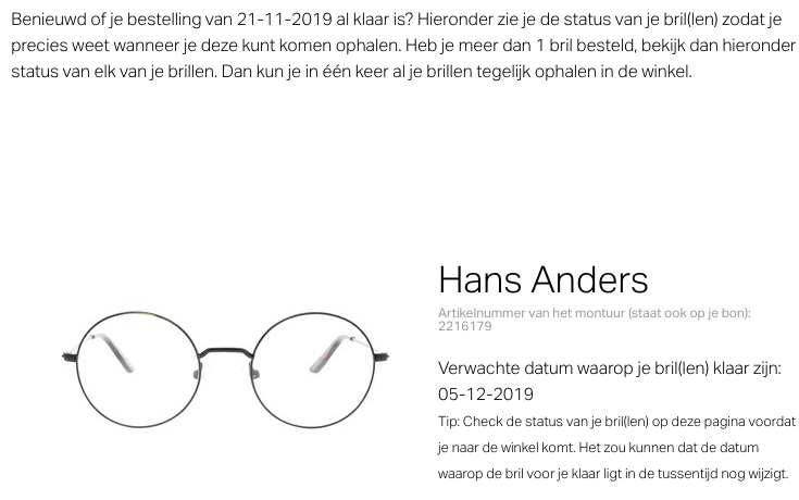 Bril kopen bij Hans Anders