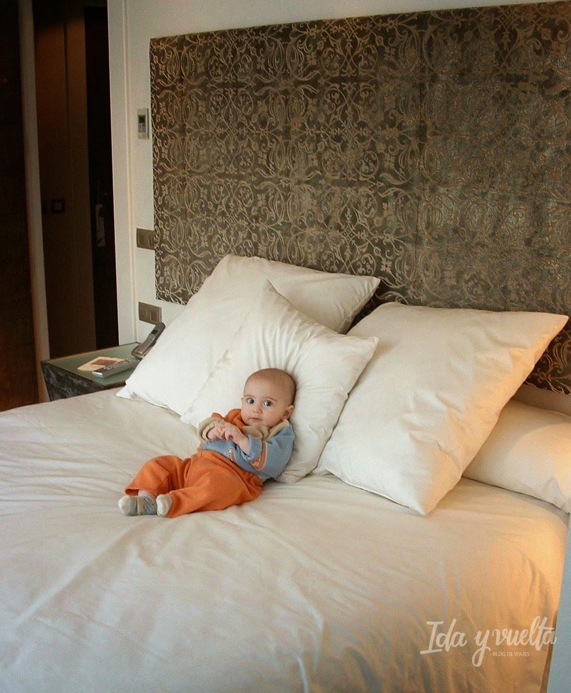 La cama de nuestra habitación Hospes Palacio del Bailío