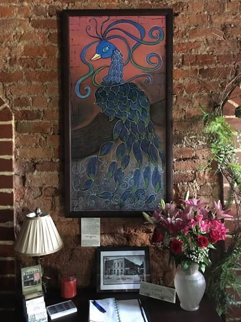 Indio finished and hanging in Linde Marie's Steakhouse in Cave Spring, she is for sale