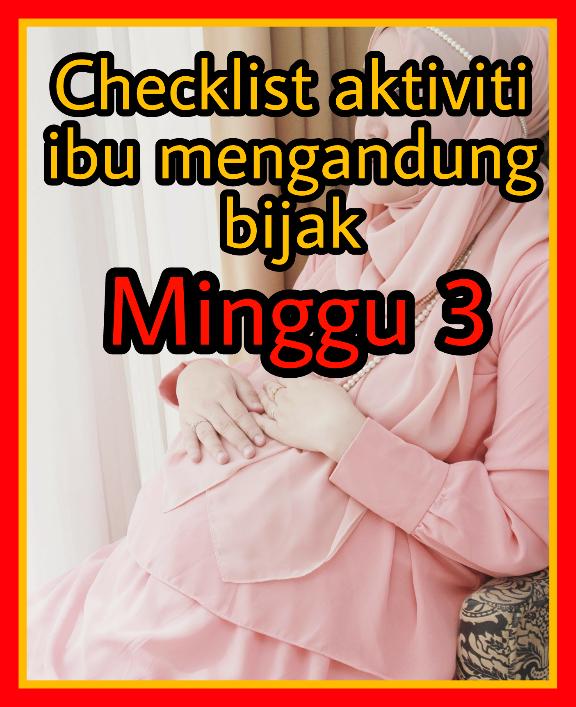senarai semak ibu mengandung minggu ke 3