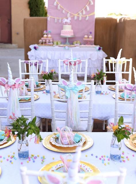 Decoração mesa Festa Unicórnio