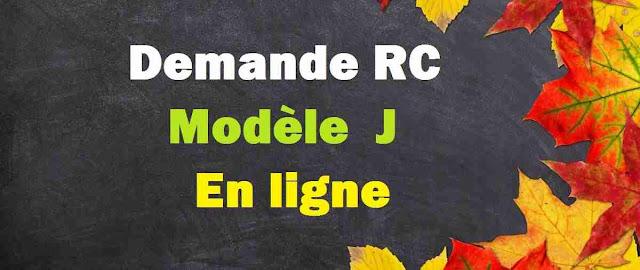 Demande RC modèle j en ligne Maroc