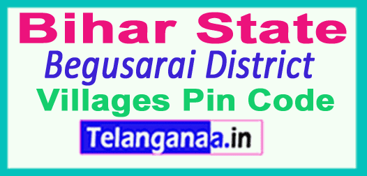 Begusarai District Pin Codes in Bihar State
