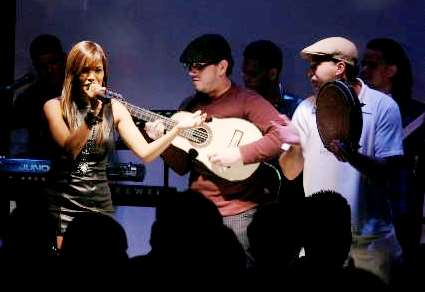 Foto de Wida López en el escenario