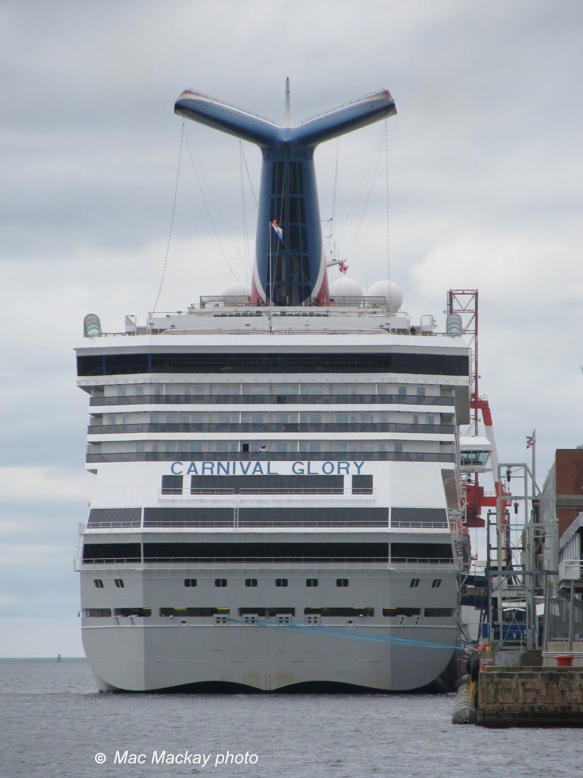 Shipfax: Carnival Glory Trip #1
