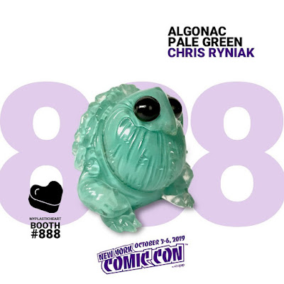 New York Comic Con 2019 Exclusive Algonac Pale Green Edition Vinyl Figure by Chris Ryniak x myplasticheart