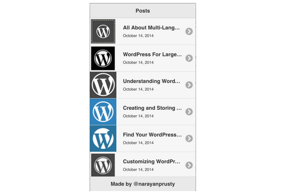 PhoneGap WordPress Backend