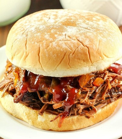 SLOW COOKER SHREDDED BEEF SANDWICHES RECIPES