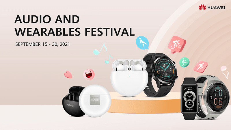 Huawei offers up to 50 percent discount during its Audio and Wearables Festival 2021