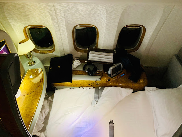 Review: Emirates EK210 First Class Boeing 777-300ER Newark to Athens