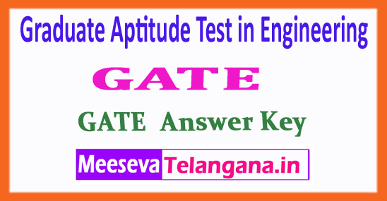 GATE Graduate Aptitude Test in Engineering All Branches 2018 Answer Key Download