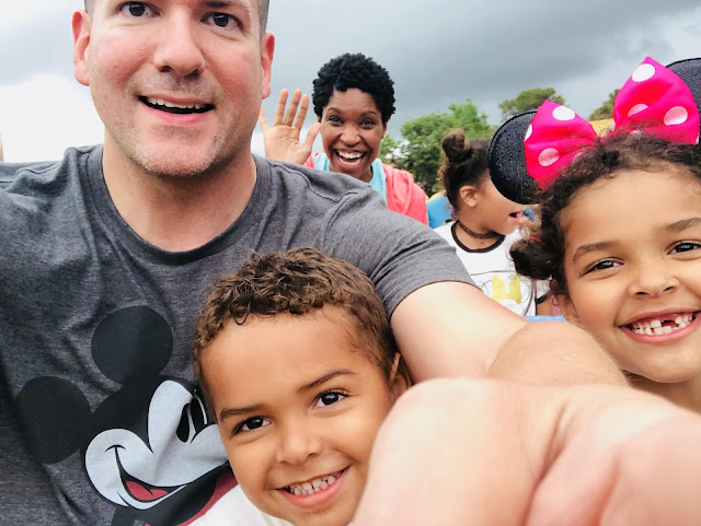 Family on a ride at Walt Disney World