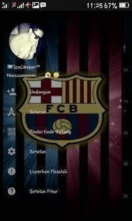 Download BBM Transparan Terbaru Tema Barcelona v3.1.0.13 APK