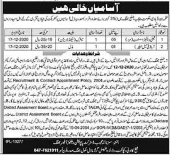 population-welfare-department-punjab-jobs-2020-application-form