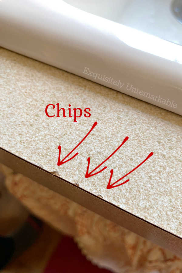 Chips In Laminate kitchen countertop