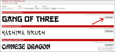 cara download font untuk photoshop
