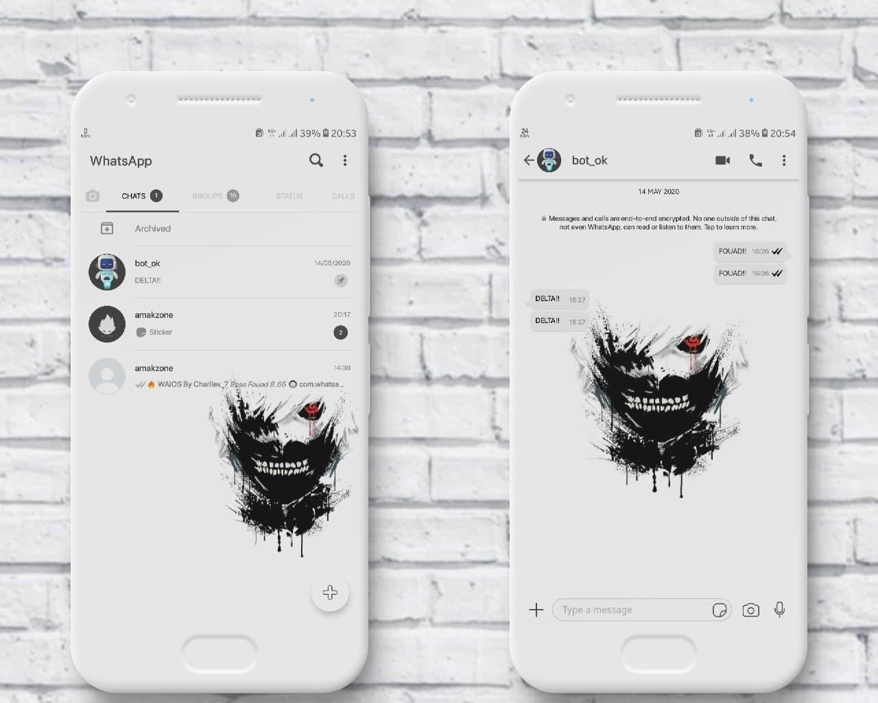 IOS Ken Kaneki 20 Theme For GB WhatsApp & YoWhatsApp By Amakzone ...