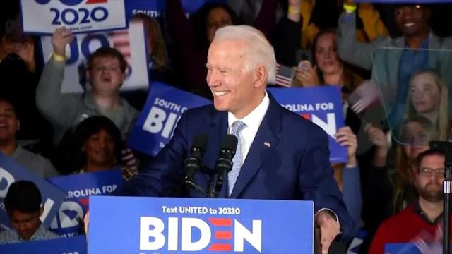 Biden gana las primarias demócratas de Carolina del Sur