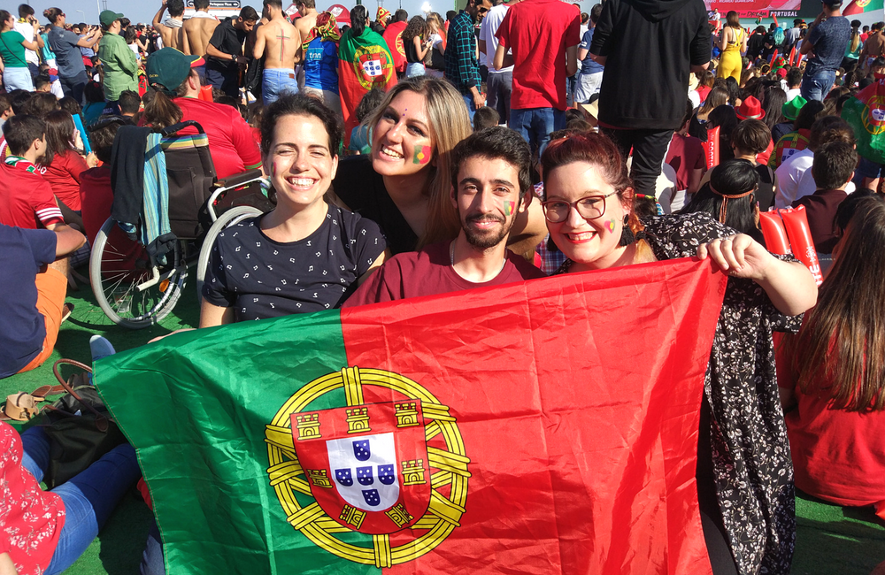 Portugal + mundial 2018+ boa companhia + bloggers + blogueres portuguesas + jogo do mundial + arena terreiro do paço + blogue ela e ele + ele e ela + pedro e telma (3)