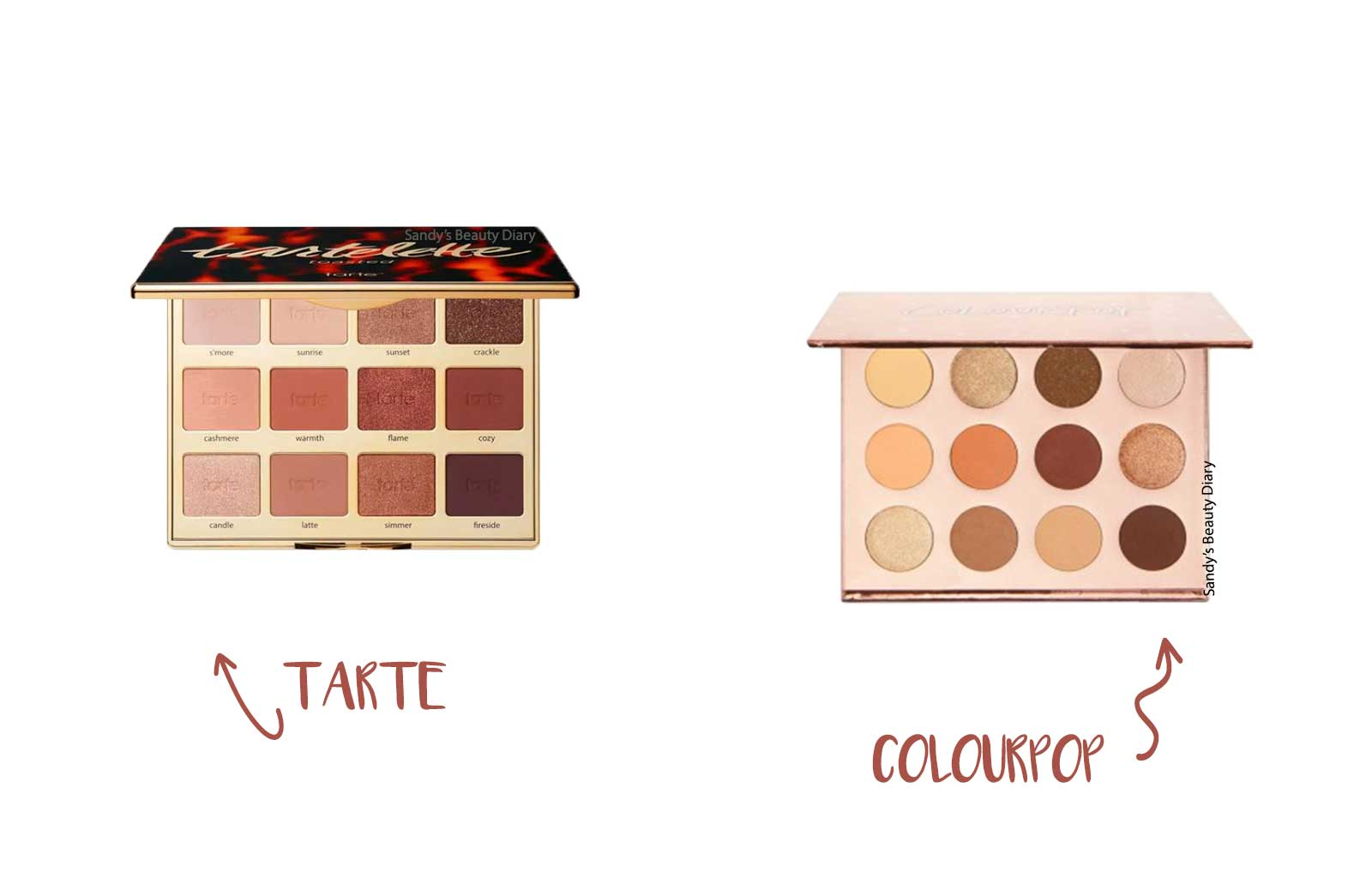 Dupes maquillage tarte tartelette toasted