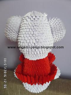 Jak samemu wykonać słonia z papieru origami 3d.