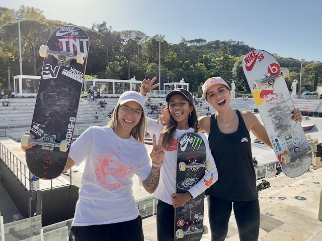 As três brasileiras do skate street, que podem fazer um pódio triplo