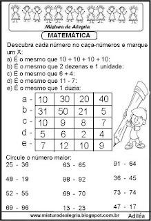 Atividades de matemática séries iniciais