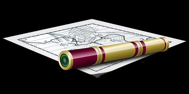 Map Mapping Nautical Plan Telescope Glass