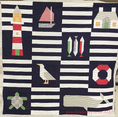Karen's Beach Quilt - lighthouse, seagull