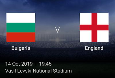 LIVE MATCH: Bulgaria Vs England UEFA Euro 2020 Qualifiers 14/10/2019