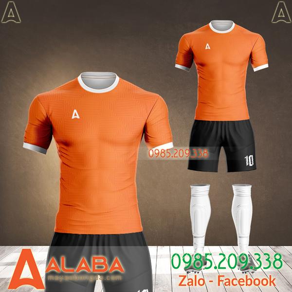 áo đấu không logo màu cam đẹp 2021