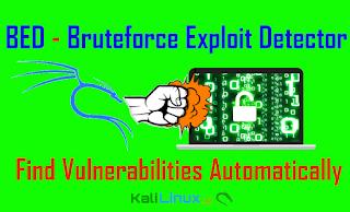 bed bruteforce exploit detector kali linux