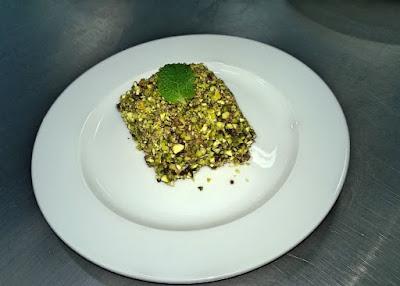 Receita de Bolo Gelado de Chocolate com Pistache