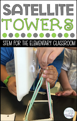 The ultimate elementary STEM Challenge. Half the team builds the tower and half builds the satellite dish and then they combine the two! Great teamwork for this STEM Challenge!