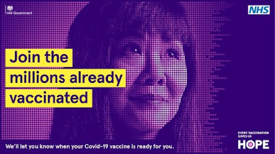Join the millions already vaccinated It brings us HOPE smiley lady