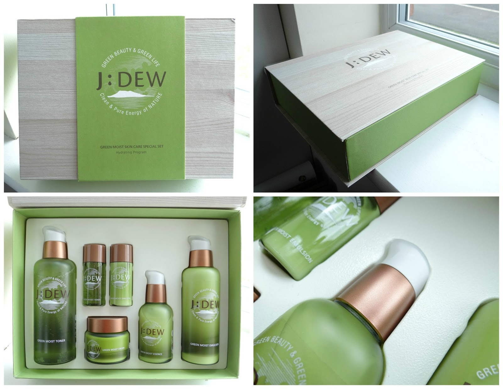 Q-depot online Korean cosmetics store review, J'Ders Korean Cosmetcis brand, J:Dew Green Moist